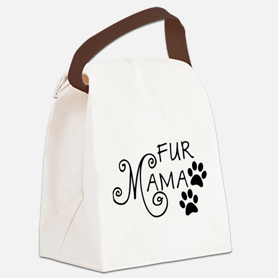 Fur Mama Canvas Lunch Bag