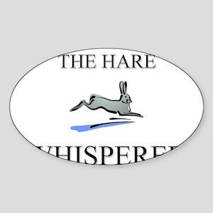 The Hare Whisperer Oval Sticker