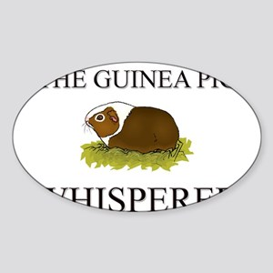 The Guinea Pig Whisperer Oval Sticker