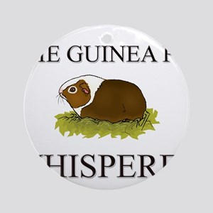 The Guinea Pig Whisperer Ornament (Round)