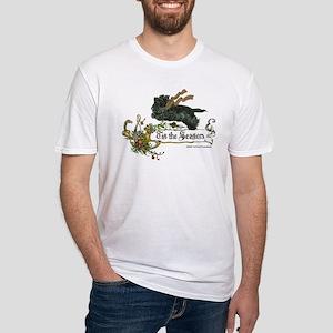 Scottish Terrier Season Fitted T-Shirt