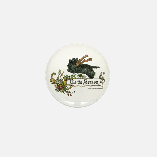 Scottish Terrier Season Mini Button