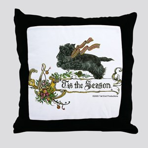 Scottish Terrier Season Throw Pillow