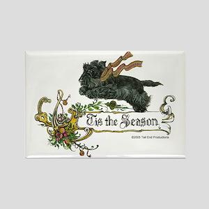 Scottish Terrier Season Rectangle Magnet