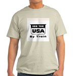 See The USA By Train ! Light T-Shirt