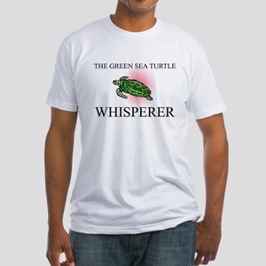 The Green Sea Turtle Whisperer Fitted T-Shirt