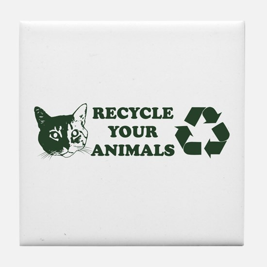 Recycle your animals Tile Coaster