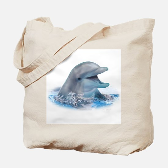 Happy Dolphin Tote Bag