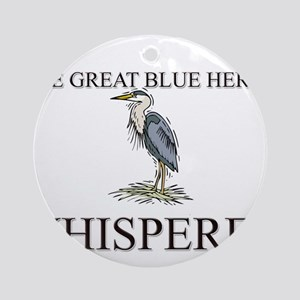 The Great Blue Heron Whisperer Ornament (Round)