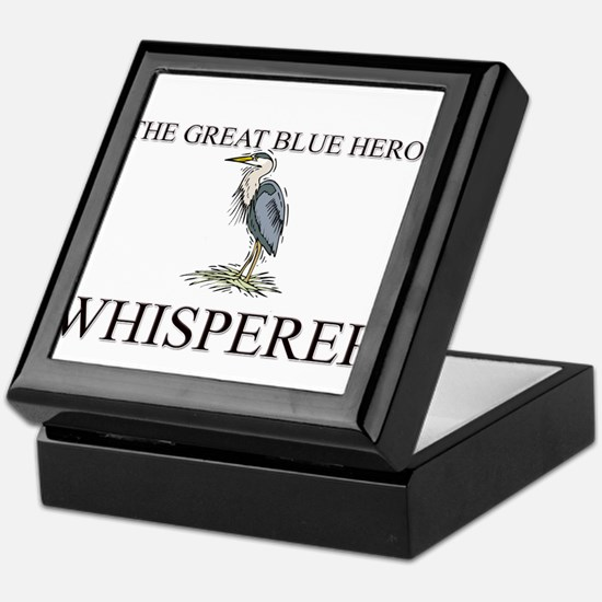The Great Blue Heron Whisperer Keepsake Box