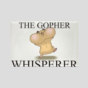 The Gopher Whisperer Rectangle Magnet