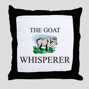 The Goat Whisperer Throw Pillow