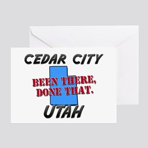 cedar city utah - been there, done that Greeting C