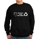 Recycle your children Sweatshirt (dark)