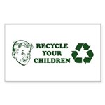 Recycle your children Sticker (Rectangle 50 pk)