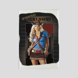 Posse Saloon Girl Rectangle Magnet