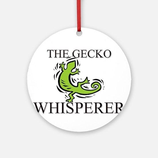 The Gecko Whisperer Ornament (Round)