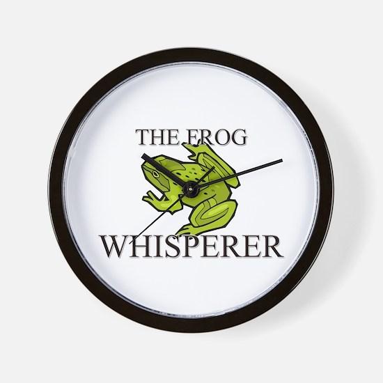 The Frog Whisperer Wall Clock