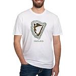Irish Harp and Shamrock Fitted T-Shirt