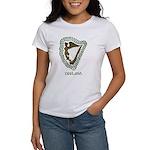 Irish Harp and Shamrock Women's T-Shirt