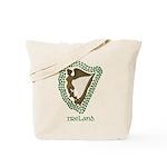 Irish Harp and Shamrock Tote Bag