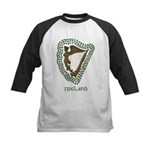 Irish Harp and Shamrock Kids Baseball Jersey