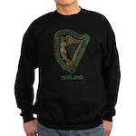 Irish Harp and Shamrock Sweatshirt (dark)