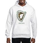 Irish Harp and Shamrock Hooded Sweatshirt