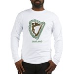 Irish Harp and Shamrock Long Sleeve T-Shirt