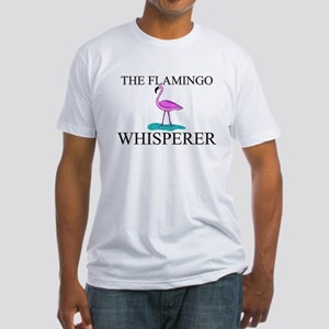 The Flamingo Whisperer Fitted T-Shirt