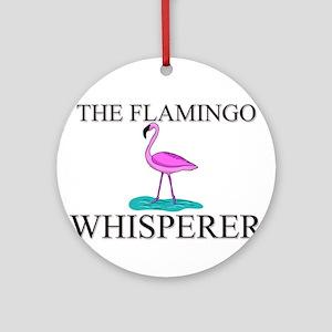 The Flamingo Whisperer Ornament (Round)