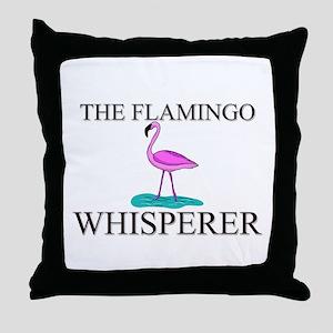 The Flamingo Whisperer Throw Pillow