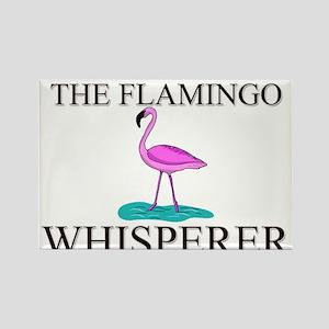 The Flamingo Whisperer Rectangle Magnet