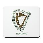 Irish Harp and Shamrock Mousepad