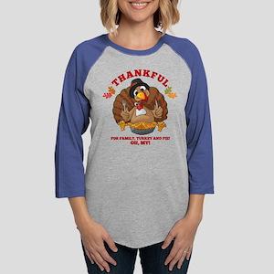 Thankful Family Turkey Pie Long Sleeve T-Shirt