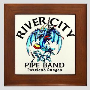 Piping/Drumming Dragon Framed Tile