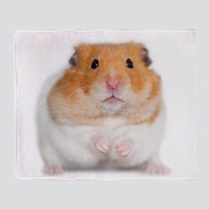 Chunk The Hamster Throw Blanket