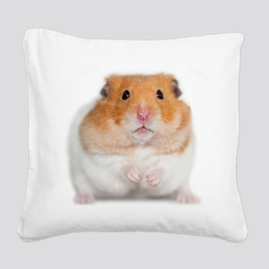 Chunk the Hamster Square Canvas Pillow