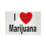 I Love Marijuana Rectangle Magnet (10 pack)