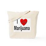 I Love Marijuana Tote Bag