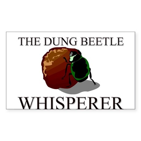 The Dung Beetle Whisperer Rectangle Sticker