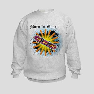 Born to Board Kids Sweatshirt