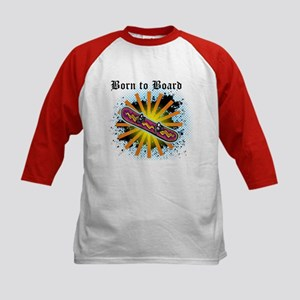 Born to Board Kids Baseball Jersey