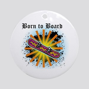 Born to Board Ornament (Round)