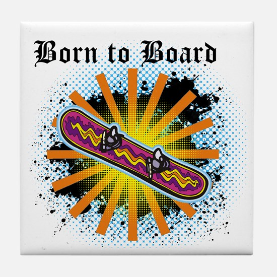 Born to Board Tile Coaster