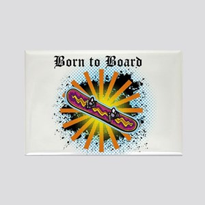 Born to Board Rectangle Magnet