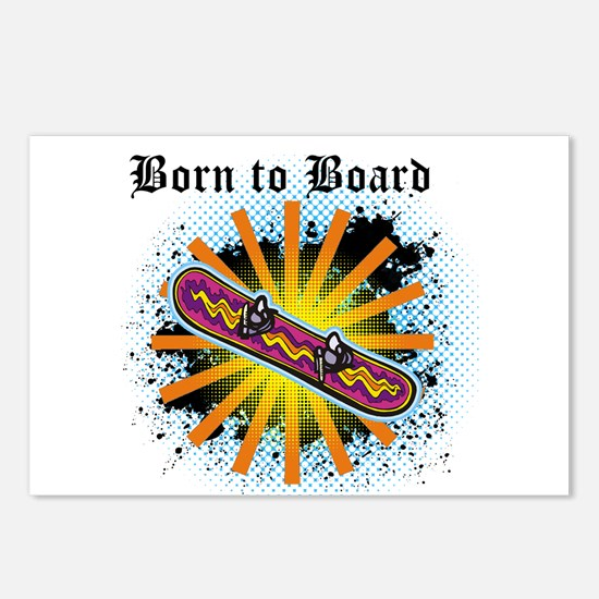 Born to Board Postcards (Package of 8)