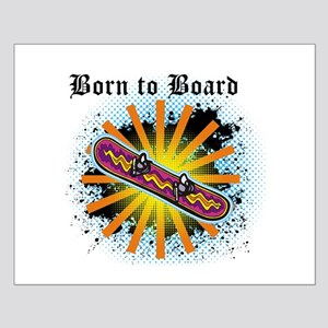 Born to Board Small Poster