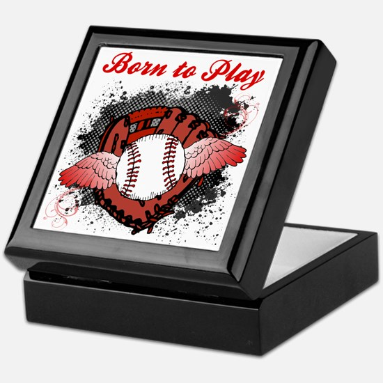 Born to Play Baseball Keepsake Box