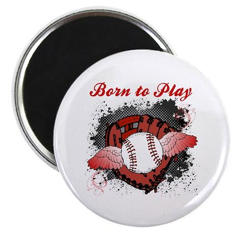Born to Play Baseball Magnet